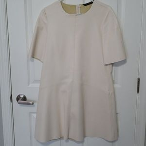 White leather zara dress